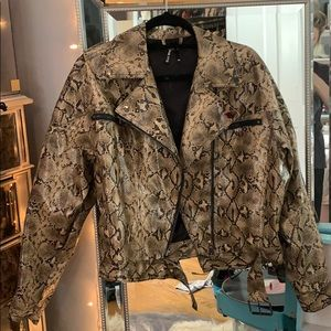 Motto snakeskin jacket